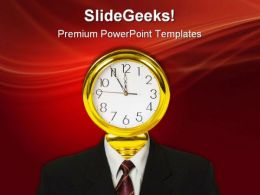 Clock For Head Future PowerPoint Templates And PowerPoint Backgrounds 0611