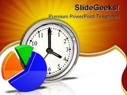 Clock Icon Pie Chart Business PowerPoint Templates And PowerPoint Backgrounds 0511
