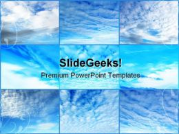 Clouds Collage Nature PowerPoint Templates And PowerPoint Backgrounds 0711