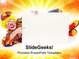Clown Advertisement Background PowerPoint Templates And PowerPoint Backgrounds 0311