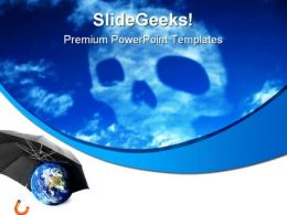 Co2 Skull Earth PowerPoint Templates And PowerPoint Backgrounds 0311