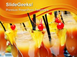 Cocktails With Slices Food PowerPoint Templates And PowerPoint Backgrounds 0411