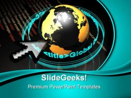 Code Makes The World Globe PowerPoint Templates And PowerPoint Backgrounds 0511