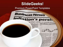 Coffee With Newspaper Business PowerPoint Templates And PowerPoint Backgrounds 0311
