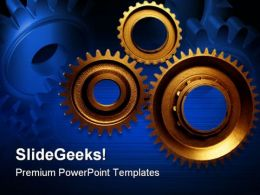Cogwheels Industrial PowerPoint Templates And PowerPoint Backgrounds 0511
