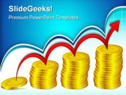 Coin Bar Graph Business PowerPoint Templates And PowerPoint Backgrounds 0511