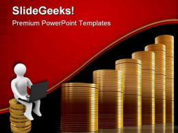 Coins Graph Business PowerPoint Templates And PowerPoint Backgrounds 0511