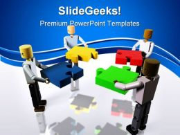 Collaborating To Build Business PowerPoint Templates And PowerPoint Backgrounds 0411