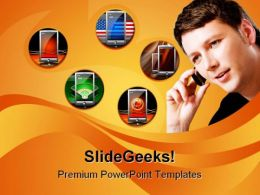 Collage Of Communication Globe PowerPoint Templates And PowerPoint Backgrounds 0311
