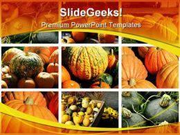 Collage Of Fall Squashes Nature PowerPoint Templates And PowerPoint Backgrounds 0311