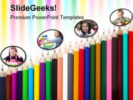 Color Pencils Art PowerPoint Templates And PowerPoint Backgrounds 0611