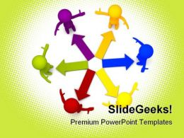 Colored Arrows Business PowerPoint Templates And PowerPoint Backgrounds 0511