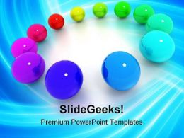 Colored Billiard Balls Shapes PowerPoint Templates And PowerPoint Backgrounds 0311