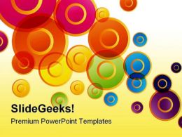 Colored Circles Shapes PowerPoint Templates And PowerPoint Backgrounds 0411