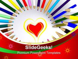 Colored Drawing Pencils Education PowerPoint Templates And PowerPoint Backgrounds 0911