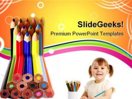 Colored Pencils01 Education PowerPoint Templates And PowerPoint Backgrounds 0811