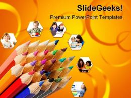 Colored Pencils Education PowerPoint Templates And PowerPoint Backgrounds 0311