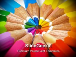 Colored Pencils Education PowerPoint Templates And PowerPoint Backgrounds 0811