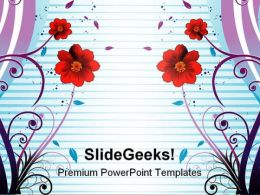 Colorful Flowers Abstract PowerPoint Templates And PowerPoint Backgrounds 0511