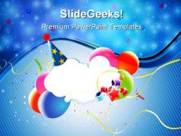 Colorful Party Balloons Events PowerPoint Templates And PowerPoint Backgrounds 0611