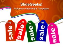 Colorful Sale Tags Marketing PowerPoint Templates And PowerPoint Backgrounds 0611