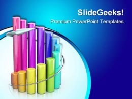 Colorful Sales Graph Business PowerPoint Templates And PowerPoint Backgrounds 0511