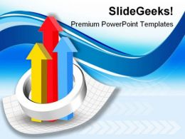 Colorful Up Graph Business PowerPoint Templates And PowerPoint Backgrounds 0111