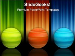 Colors Spheres Shapes PowerPoint Backgrounds And Templates 1210