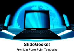 Communication Concept Computer PowerPoint Templates And PowerPoint Backgrounds 0411