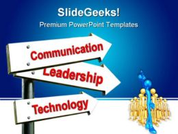 Communication Technology Leadership PowerPoint Templates And PowerPoint Backgrounds 0811