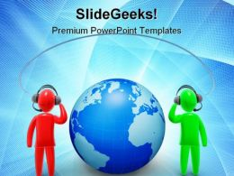 Communications Global PowerPoint Templates And PowerPoint Backgrounds 0511