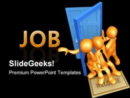 Competing For The Job Business PowerPoint Templates And PowerPoint Backgrounds 0311