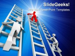 Competition Success PowerPoint Template 1110