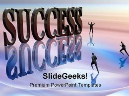 Competitor Running For Success PowerPoint Templates And PowerPoint Backgrounds 0611