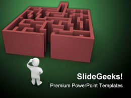 Complicated Maze Business PowerPoint Templates And PowerPoint Backgrounds 0411