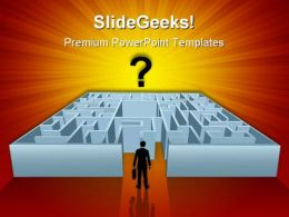 Complicated Maze Business PowerPoint Templates And PowerPoint Backgrounds 0811