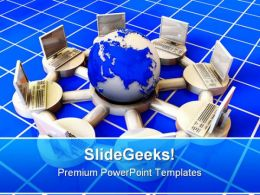 Concept Of Internet Global PowerPoint Templates And PowerPoint Backgrounds 0211