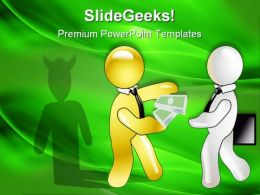 Conception Of Graft A Demon Business PowerPoint Templates And PowerPoint Backgrounds 0311