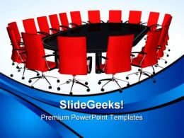 Conference Table Business PowerPoint Templates And PowerPoint Backgrounds 0611