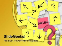 Confusion Business PowerPoint Template 0810