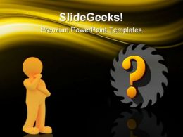Confusion Industrial PowerPoint Templates And PowerPoint Backgrounds 0711