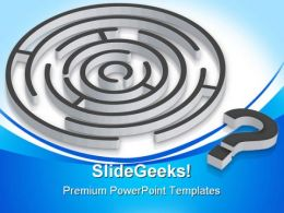 Confusion Maze Business PowerPoint Templates And PowerPoint Backgrounds 0811
