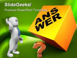 Confusion To Answer Metaphor PowerPoint Templates And PowerPoint Backgrounds 0311
