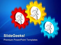 Connected Gears Business PowerPoint Templates And PowerPoint Backgrounds 0411