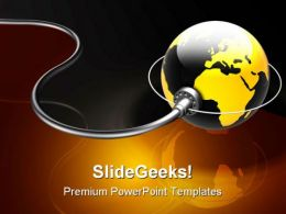 Connected World Globe PowerPoint Templates And PowerPoint Backgrounds 0511