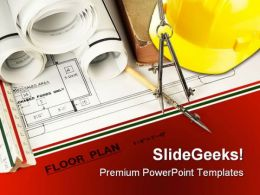 Construction Architecture PowerPoint Template 0810
