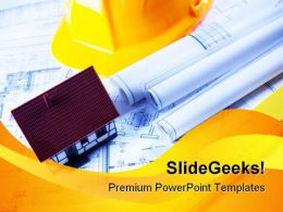 Construction Plans Real Estate PowerPoint Templates And PowerPoint Backgrounds 0611