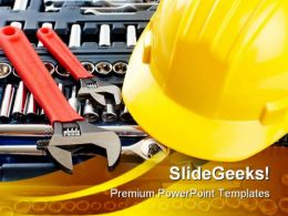 Construction Tools Business PowerPoint Templates And PowerPoint Backgrounds 0711