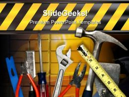Construction Tools Industrial PowerPoint Template 0510
