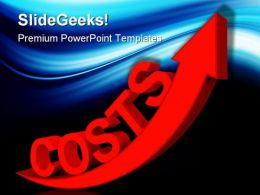 Costs Increases Business PowerPoint Templates And PowerPoint Backgrounds 0411